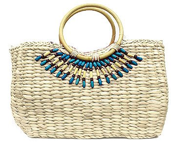 Beaded Straw Bag-Boardwalk Style