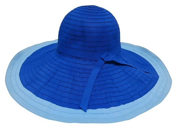 Blue 2-Tone Sun Protection Hat-Boardwalk Style