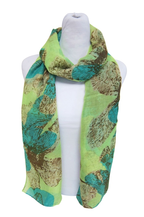 Flower Print Lightweight Summer Beach Scarf-Boardwalk Style