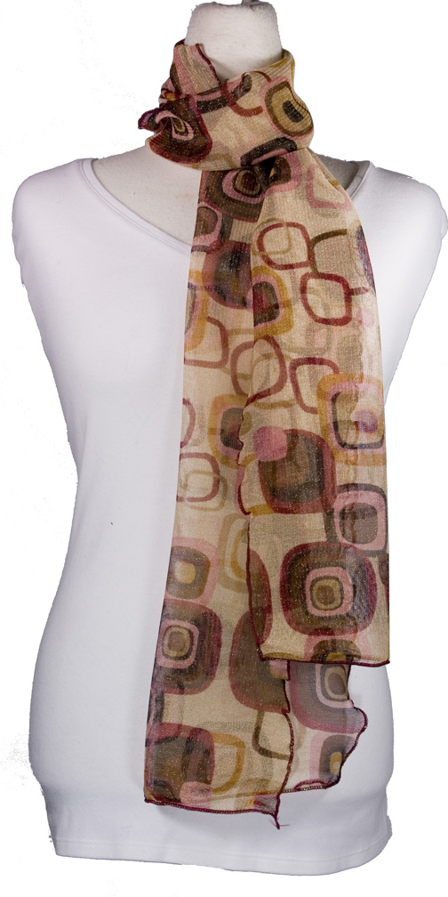 High Tie Lightweight Summer Scarf- Boardwalk Style