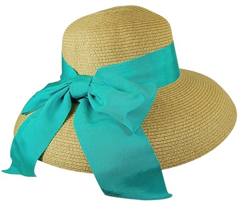 Lampshade Sun Protection Hat w:Wide Ribbon-Boardwalk Style