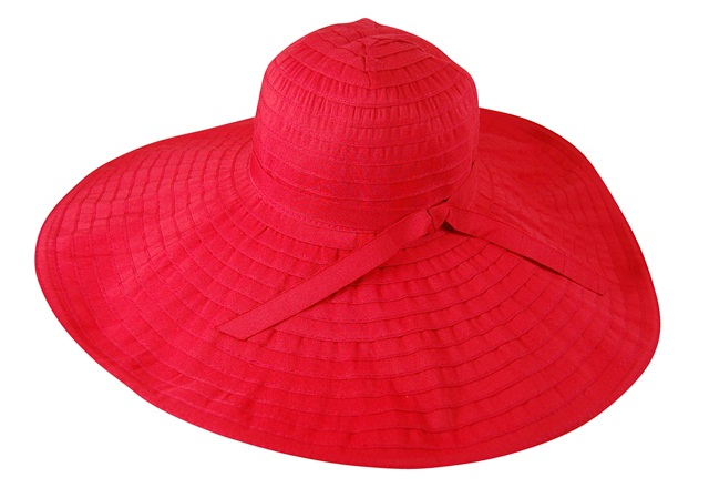 Large Red Sun Protection Hat- Boardwalk Style