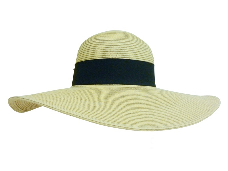 Light Natural Wide Brim Straw Floppy Hat- Boardwalk Style