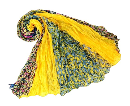 Lightweight Colorful Printed Shawl Summer Beach Scarf-Boardwalk Style