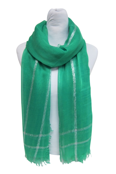 Metallic Lined Lightweight Summer Beach Scarf-Boardwalk Style
