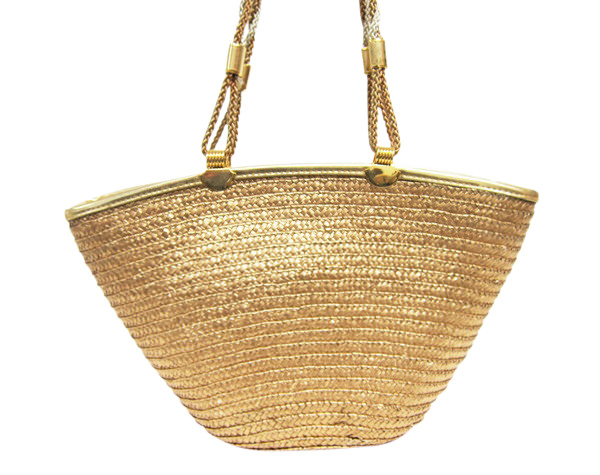 Metallic Staw Bag-Boardwalk Style