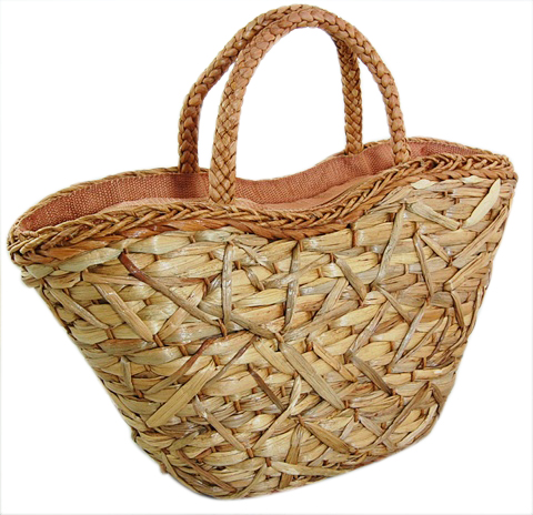 Natural Zigzag Weave Straw Bag-Boardwalk Style