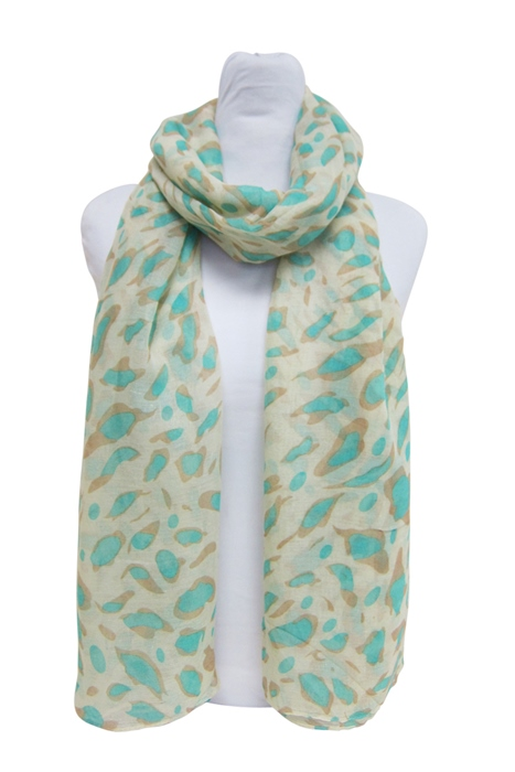 Neon Leopard Print Lightweight Summer Beach Scarf-Boardwalk Style