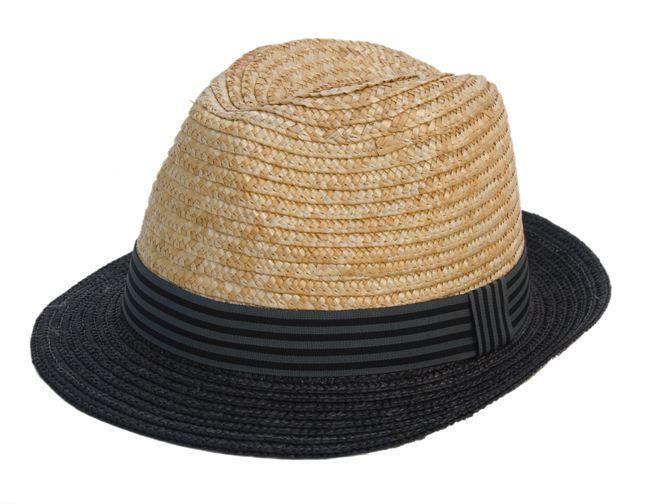 Two-tone Straw Fedora Hat- Boardwalk Style