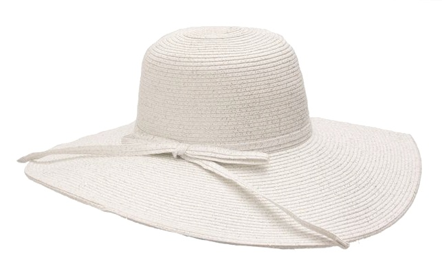 White Floppy Sun Hat-Boardwalk Style