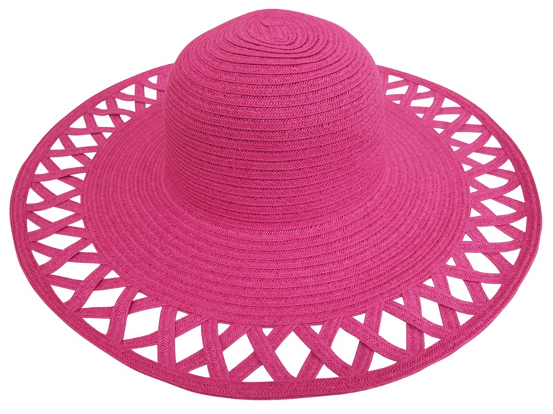 laides hats - summer wide brim - pink - boardwalk style