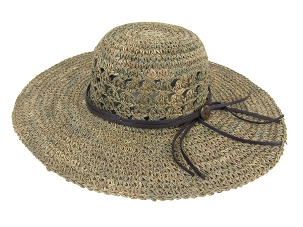womens seagrass hat - beach - boardwalk style