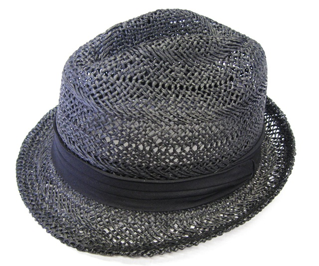 Black Handwoven Toyo Fedora- Boardwalk Style