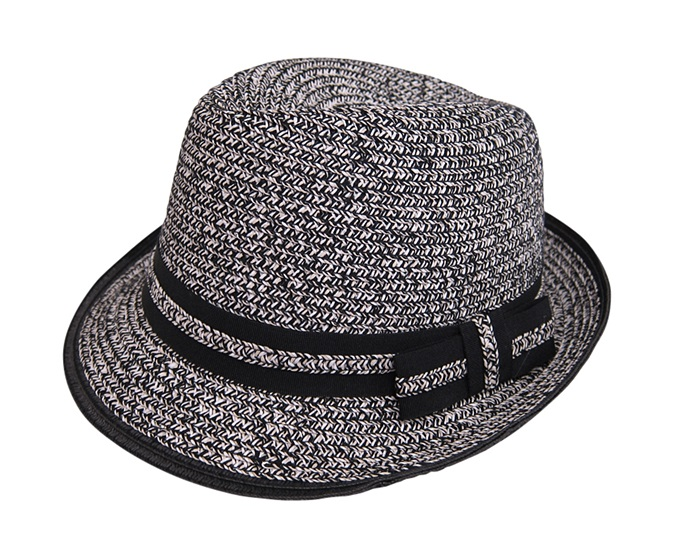 Black:White Tween Fedora- Boardwalk Style