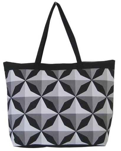 Cute Beach Bag Tote w:Geometric Pattern-Dynamic Asia