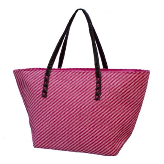 Large 2-Tone Straw Beach Tote-Boardwalk Style