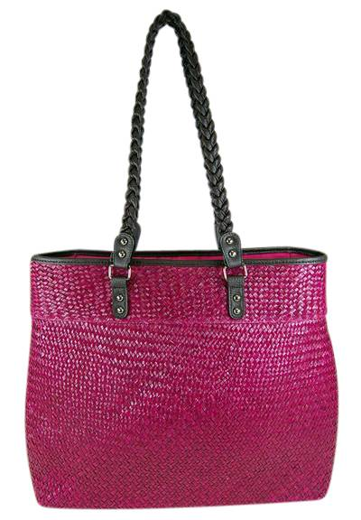 Large Seagrass Fusia Beach Bag-Boardwalk Style