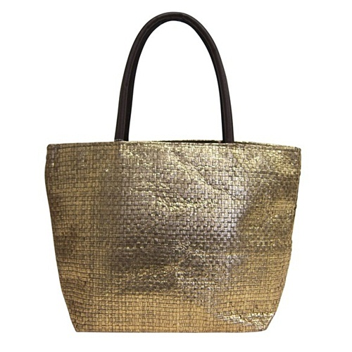 Metallic Gold Beach  Tote Bag-Boardwalk Style
