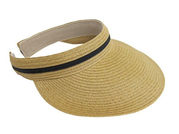 Natural Straw Sun Visor-Boardwalk Style