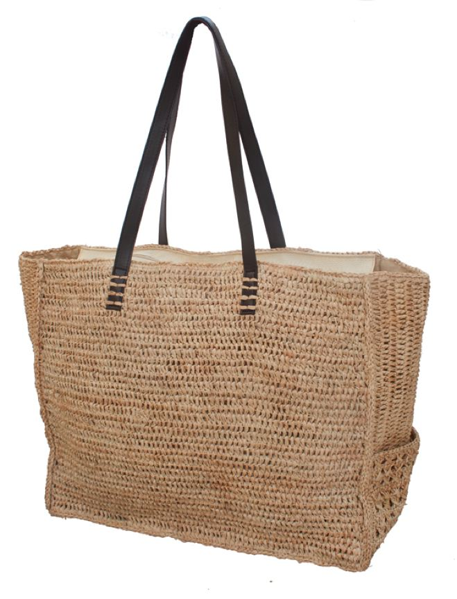 Oversized Crochet Raffia Shoulder Beach Tote Bag-Boardwalk Style