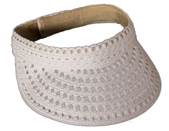 Staw and Mesh Sun Visor Hat-Boardwalk Style