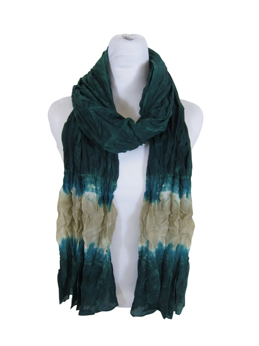 Green Tye-Dyed Scarf- Boardwalk Style