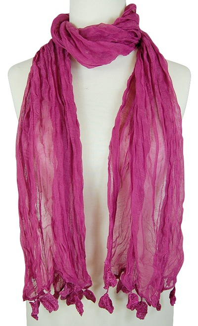 Lightweight Sheer Scarf w: Dangles- Boardwalk Style