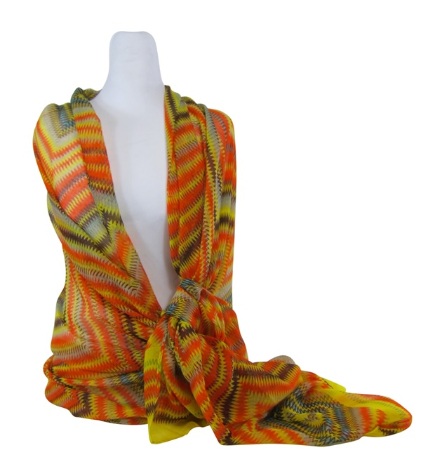 Lightweight Summer Spring Zigzag Scarf-Boardwalk Style