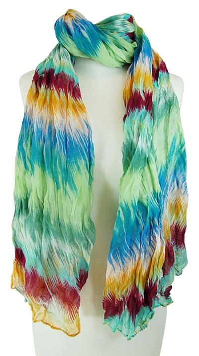 Rainbow Multicolor Lightweight Spring Scarves- Boardwalk Style