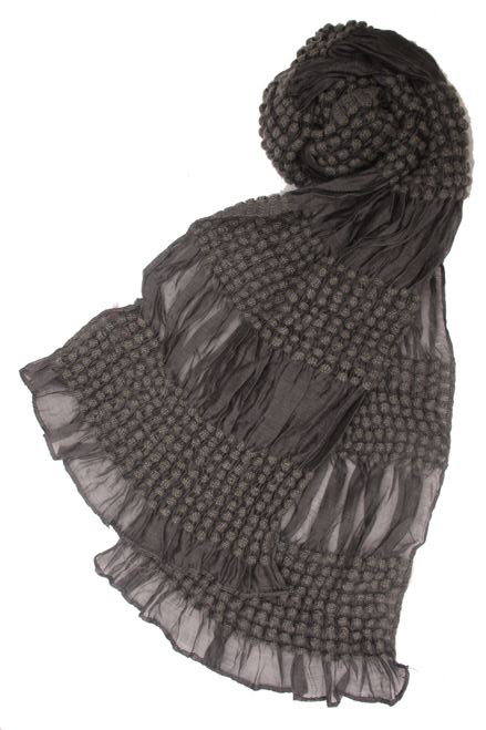 Sheer Scarf w: Crochet Details- Boardwalk Style