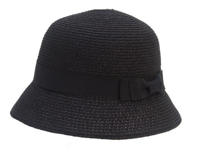 Shimmery Metallic Polyester Braid Bucket Hat- Boardwalk Style