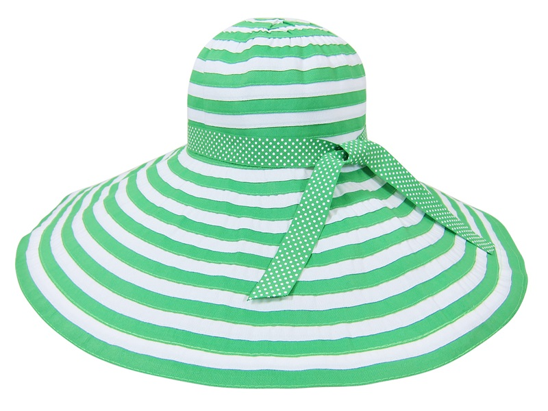 Boardwalk Style Extra Wide Brim Summer Floppy Striped Hat