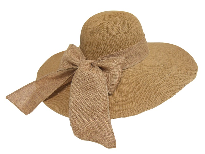 Boardwalk Style Textured Toyo Sun Hat w: Ribbon