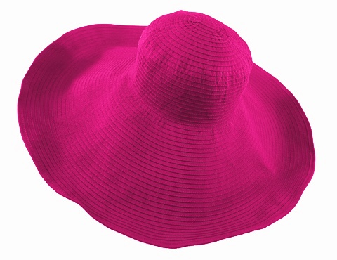Hot Pink Oversized Ribbon Sun Hat Summer Beach Essential- Boardwalk Style