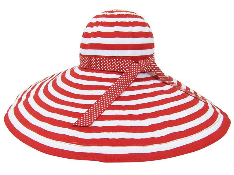 XL brim Striped Ribbon Crusher Hat Summer Beach Essential- Boardwalk Style