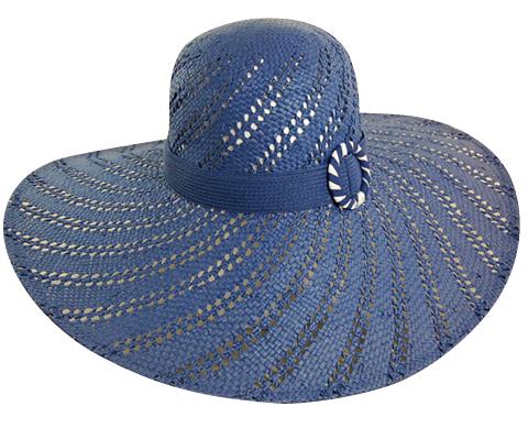 Blue Floppy Straw Hat Summer 2014- Boardwalk Style