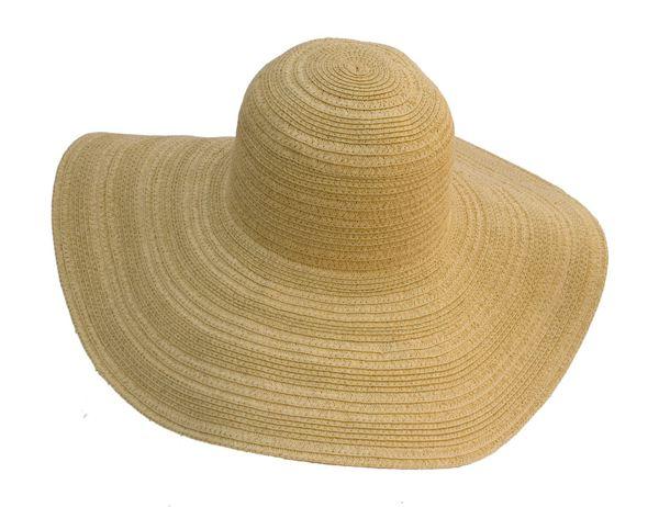 Mixed Straw Braid Sun Hat Best Straw Beach Hat- Boardwalk Style