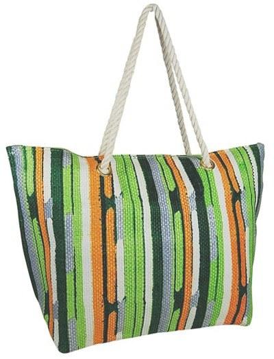 Paint Stripe Toyo Tote Bag w/ Rope Handles Best Cute Beach Bags Summer 2014- Boardwalk Style