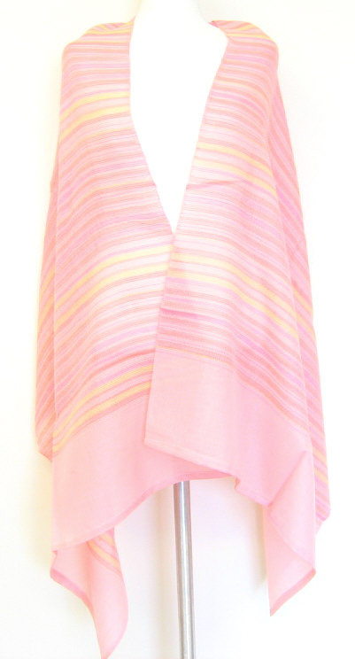 Shawl Wrapping Styles Lightweight Striped Shawl- Boardwalk Style