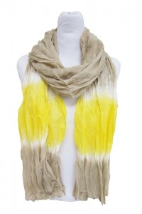 Beach Scarf Tye Dye Yellow and Neutral Lightweight Beach Scarf Summer 2014- Boardwalk Style