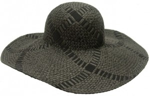 Black Straw Summer Floppy Sun Hat-Boardwalk Style