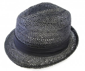 Hats To Wear To The Beach Black Straw Fedora Hat- Boardwalk Style