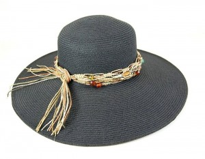 Hats To Wear on the Beach Black Straw Hats Summer 2014- Boardwalk Style