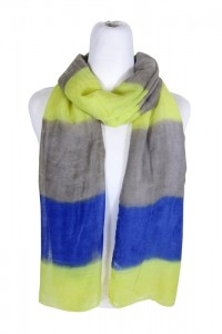 Painted Neon Colorblock Scarf Print Lightweight Summer Scarf 2014- Boardwalk Style