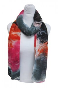 Watercolor Print Scarf Lightweight Summer Scarves Summer 2014- Boardwalk Style