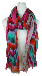 Wavy Stripe Multicolor Scarf Bright Summer Printed Pattern Scarves- Boardwalk Style