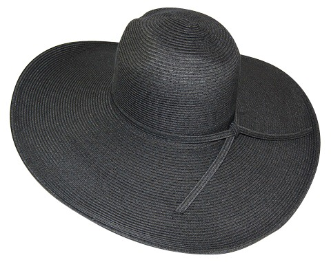 Womens Sun Hats Black Straw Floppy Sun Hat- Boardwalk Style 04c732afd41
