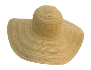 Mixed Straw Braid Sun Hat Best Straw Beach Hat- Boardwalk Style