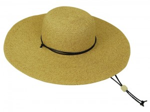 Straw Wide Brim Hat w: Cord-Boardwalk Style