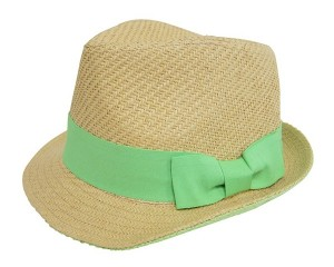 Straw Fedora with Underbrim Color- Boardwalk Style